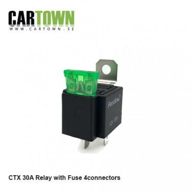 Relay 12V 30A with built in Fuse 1pcs