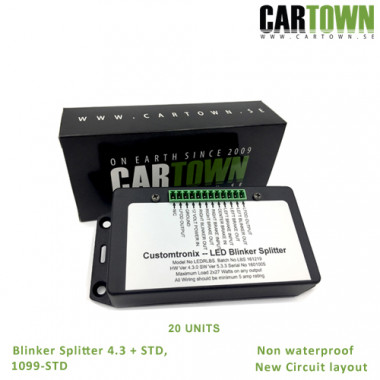 Blinker Splitter CTX 4.3 Plus, with LFOD 20pcs