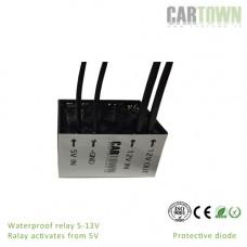 Relay 5V -12V 10A protective Diode IP68 1pcs
