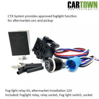 Foglight Relay KIT 12V Approved fog function (1 set) 16mm