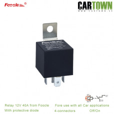 Relay 12V 40A with protective Diode 4p 10pcs