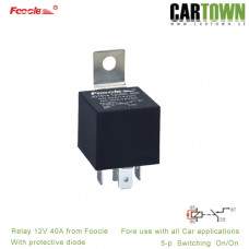 Relay 12V 40A with protective Diode 5p 10pcs