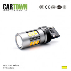 LED lamp 7440 T20 Yellow CTX-system (1pcs )