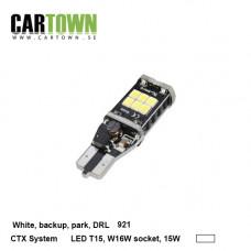 LED T15-921-LED Bulb 15W White 2pcs