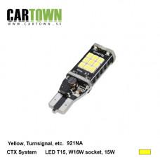 LED T15-921-LED Bulb 15W Yellow 2pcs