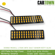 LED-Plates dark Yellow for inside clear lamp house (pair/2pcs)