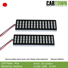 LED-Plates Red for inside clear or red lamp house (pair/2pcs)