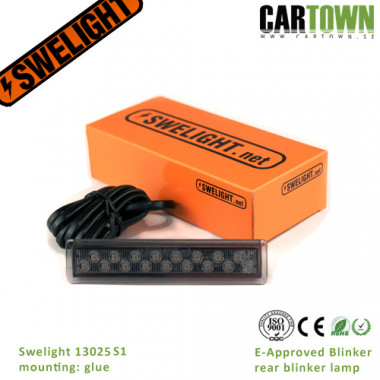 Swelight 13025S1 smoked blinker, glue (1pcs)