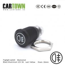 Switch Foglight CTX momental Black Alu.  LED 16mm 1pcs