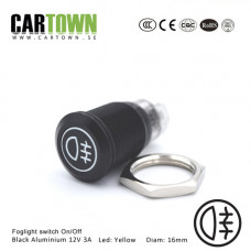 Switch Foglight CTX On/Off Black Alu. LED 16mm 1pcs