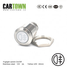 Switch Foglight CTX On/Off Stainless  LED 16mm 1pcs