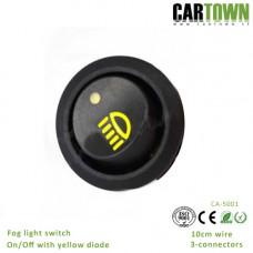 Switch Foglight  19mm On/Off rocker LED yellow 1 pcs